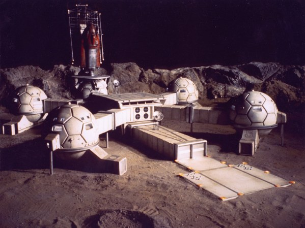 The moonbase from the show